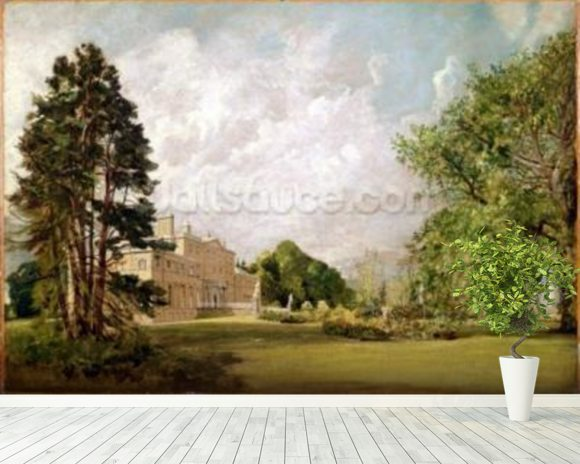 Malvern Hall, Warwickshire, c.1820-21 (oil on canvas) wall mural room setting