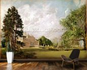 Malvern Hall, Warwickshire, c.1820-21 (oil on canvas) wall mural kitchen preview