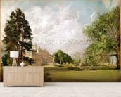 Malvern Hall, Warwickshire, c.1820-21 (oil on canvas) wall mural living room preview