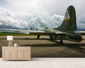 B17 Flying Fortress wallpaper mural living room preview