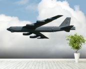 B52 Bomber wall mural in-room view