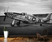 P51 Mustang wallpaper mural kitchen preview