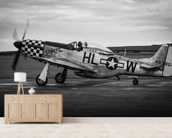 P51 Mustang wallpaper mural living room preview