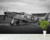 P51 Mustang wallpaper mural in-room view