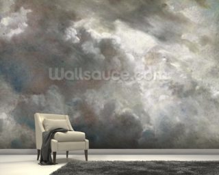 Cloud Study, 1821 (oil on paper laid down on paper) mural wallpaper