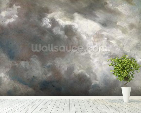 Cloud Study, 1821 (oil on paper laid down on paper) mural wallpaper room setting
