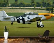 P51 Mustang Ready for Action mural wallpaper kitchen preview