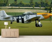 P51 Mustang Ready for Action mural wallpaper living room preview