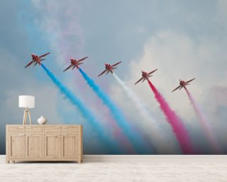 Red Arrows wallpaper mural