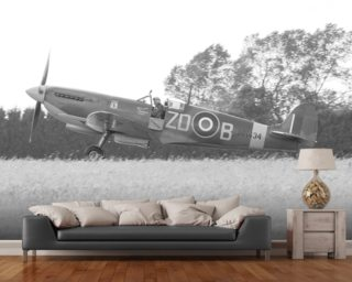 Spitfire Final Checks wall mural