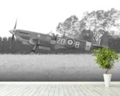 Spitfire Final Checks wall mural in-room view