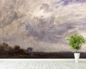 Landscape with Grey Windy Sky, c.1821-30 (oil on paper laid down on millboard) wall mural in-room view