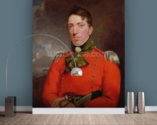 Captain Richard Gubbins, c.1804-05 (oil on canvas) wallpaper mural