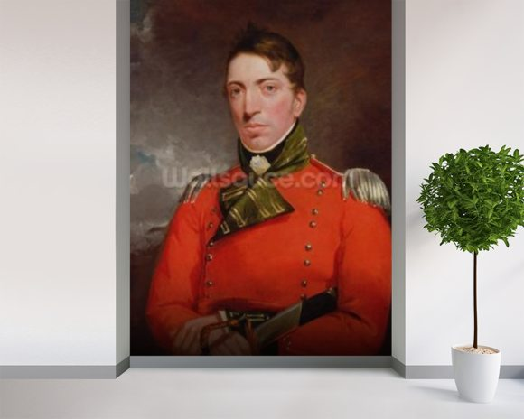 Captain Richard Gubbins, c.1804-05 (oil on canvas) wallpaper mural room setting