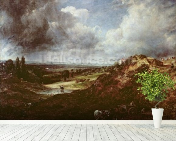 Branch Hill Pond, Hampstead Heath, 1828 (oil on canvas) wall mural room setting