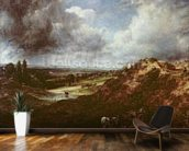 Branch Hill Pond, Hampstead Heath, 1828 (oil on canvas) wall mural kitchen preview