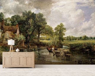The Hay Wain, 1821 (oil on canvas) wall mural