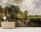 The Hay Wain, 1821 (oil on canvas) wall mural living room preview