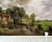 The Hay Wain, 1821 (oil on canvas) wall mural in-room view