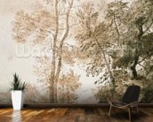 Trees and Deer, after Claude, 1825 (pen & ink with wash on paper) wallpaper mural kitchen preview