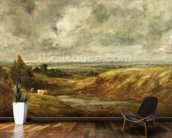 Hampstead Heath, c.1825-30 (oil on canvas) wallpaper mural kitchen preview