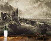 Hadleigh Castle, engraved by David Lucas (1802-81) c.1832 (mezzotint with etching) mural wallpaper kitchen preview