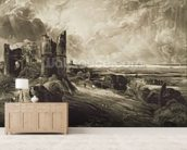 Hadleigh Castle, engraved by David Lucas (1802-81) c.1832 (mezzotint with etching) mural wallpaper living room preview
