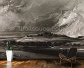 Old Sarum, engraved by David Lucas (1802-81) c.1829 (mezzotint) mural wallpaper kitchen preview