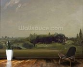View Towards the Rectory, East Bergholt, 1813 (oil on canvas) mural wallpaper kitchen preview