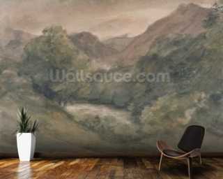 Borrowdale, Evening after a Fine Day, October 1, 1806 (w/c over graphite on paper) wall mural
