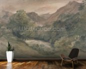 Borrowdale, Evening after a Fine Day, October 1, 1806 (w/c over graphite on paper) wall mural kitchen preview