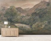 Borrowdale, Evening after a Fine Day, October 1, 1806 (w/c over graphite on paper) wall mural living room preview