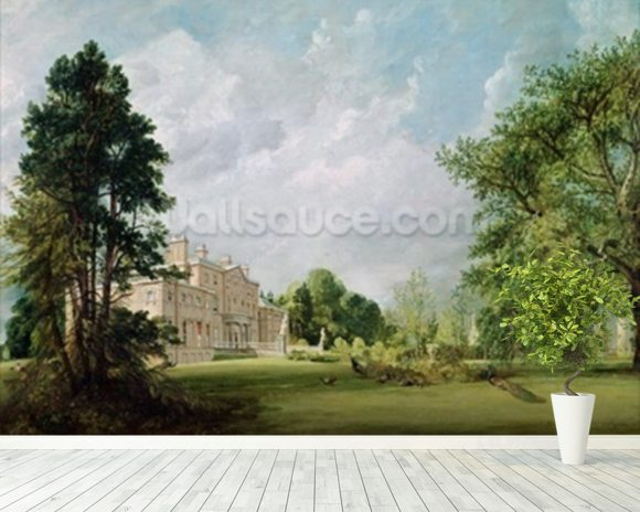 Malvern Hall, Warwickshire, 1821 (oil on canvas) wallpaper mural room setting