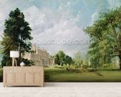 Malvern Hall, Warwickshire, 1821 (oil on canvas) wallpaper mural living room preview