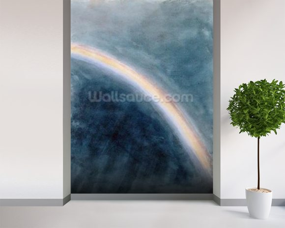Sky Study with Rainbow, 1827 (w/c on paper) wallpaper mural room setting