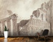 Ruin of St. Botolphs Priory, Colchester, c.1809 (chalk and pencil on paper) mural wallpaper kitchen preview