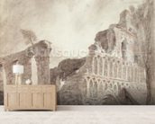 Ruin of St. Botolphs Priory, Colchester, c.1809 (chalk and pencil on paper) mural wallpaper living room preview