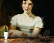 Mary Freer, 1809 (oil on canvas) mural wallpaper kitchen preview