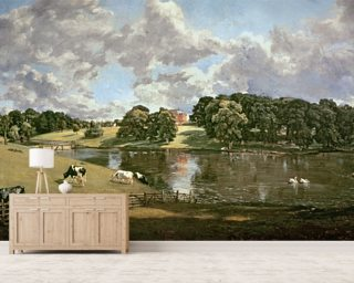 Wivenhoe Park, Essex, 1816 (oil on canvas) wallpaper mural