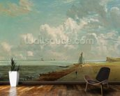 Harwich, The Low Lighthouse and Beacon Hill, c.1820 (oil on canvas) mural wallpaper kitchen preview