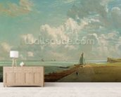 Harwich, The Low Lighthouse and Beacon Hill, c.1820 (oil on canvas) mural wallpaper living room preview