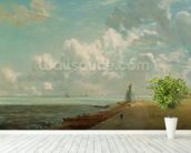 Harwich, The Low Lighthouse and Beacon Hill, c.1820 (oil on canvas) mural wallpaper in-room view