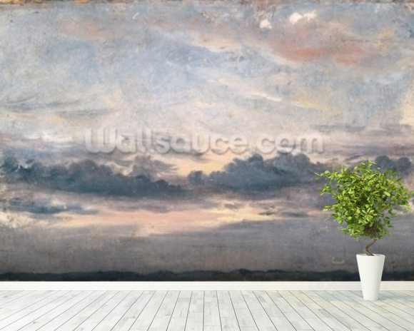 A Cloud Study, Sunset, c.1821 (oil on paper on millboard) wallpaper mural room setting