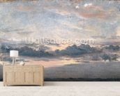 A Cloud Study, Sunset, c.1821 (oil on paper on millboard) wallpaper mural living room preview
