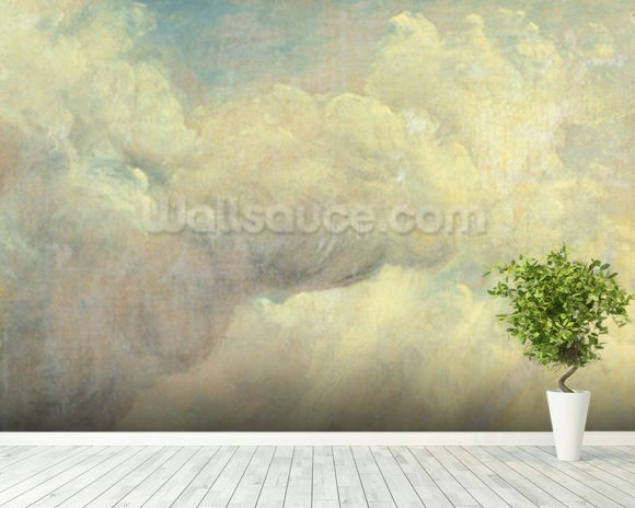 Constable john cloud study wall mural wallsauce usa for Cloud wallpaper mural