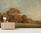 An Autumnal Landscape at East Bergholt, c.1805-08 (oil on canvas) wall mural living room preview