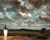 Extensive Landscape with Grey Clouds, c.1821 (oil on paper on canvas) wallpaper mural kitchen preview