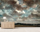 Extensive Landscape with Grey Clouds, c.1821 (oil on paper on canvas) wallpaper mural living room preview