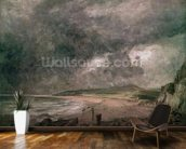 Weymouth Bay with Approaching Storm (oil on canvas) wall mural kitchen preview