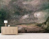 Weymouth Bay with Approaching Storm (oil on canvas) wall mural living room preview